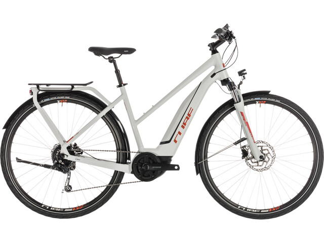 Cube Touring Hybrid 400 E-trekkingcykel Trapez grå
